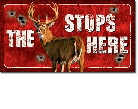 Buck Stops Here Tin Sign