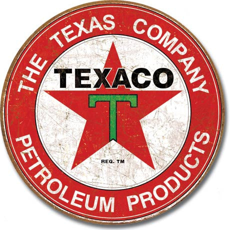 Texaco - The Texas Compar Tin Sign
