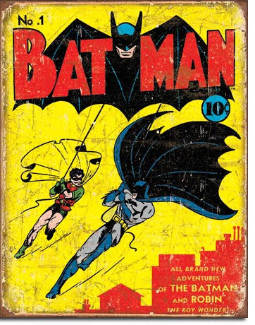 Batman No 1 Cover Tin Sign