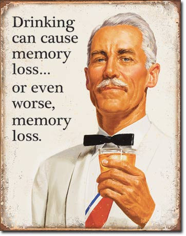 Ephemera - Memory Loss Tin Sign