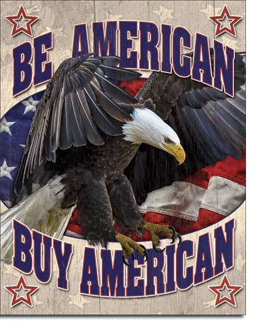 Buy American Tin Sign