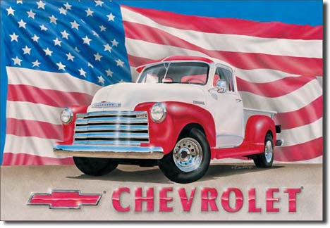 Chevy '51 Pick Up Tin Sign