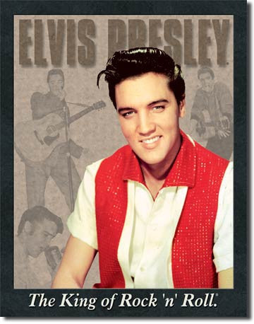 Elvis Portrait Tin Sign