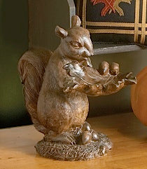 12 Inch Squirrel Holding Leaf Tray