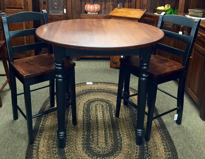 "Table-42"" Pub with Turned Legs"
