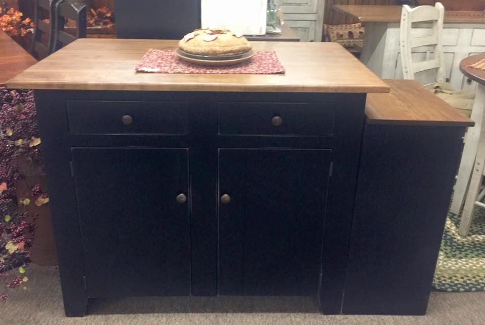 Black Standard Island with a Standard Special Walnut Top