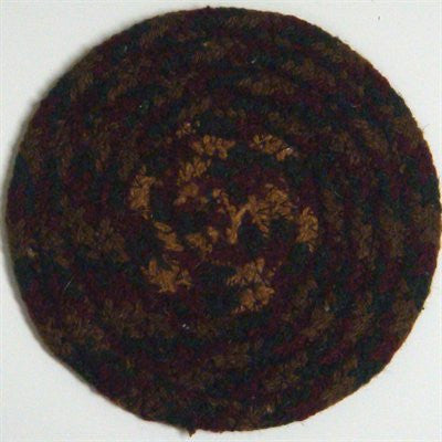 "Cinnamon 4.5"" Braided Coaster"