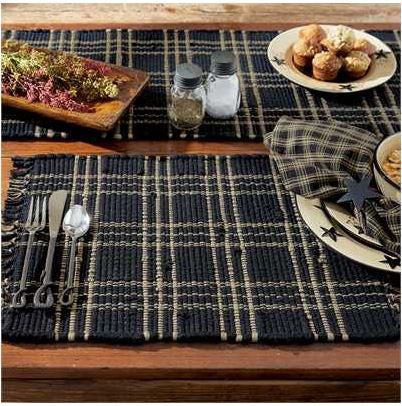 Sturbridge Chindi Placemat-Black