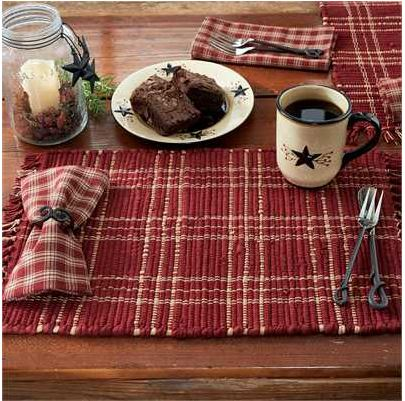 Sturbridge Chindi Placemat-Wine
