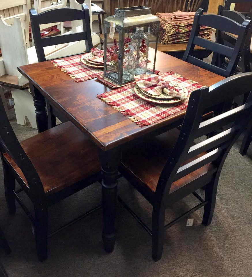 "Black Square Kitchen Table: Black 36"" X 36"" Square Table With A Michael's Cherry Top"