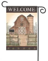 Country Barn Durasoft Garden Flag