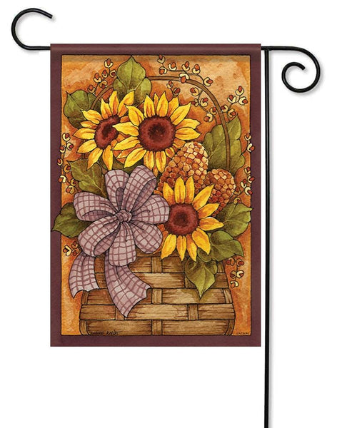 Fall Flower Basket Garden Flag