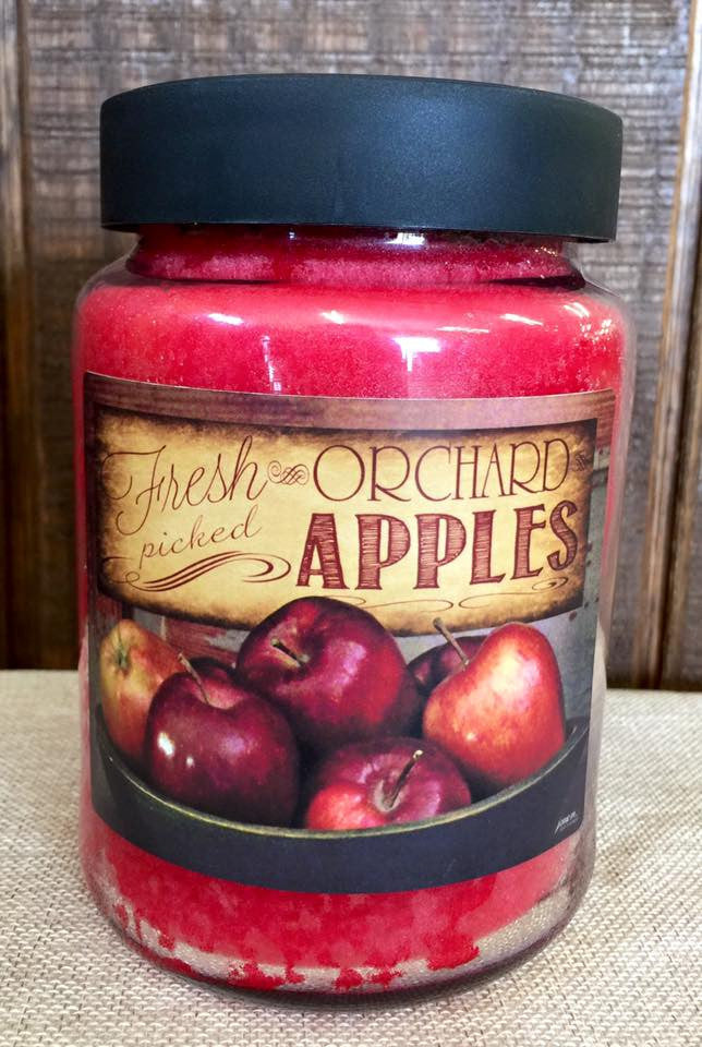 Fresh Apple 26 oz. Jar Candle -Apple Orchard