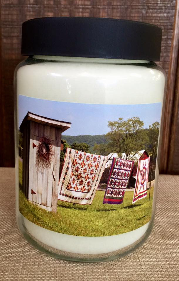 Fresh Linen 26 oz. Jar Candle -Laundry