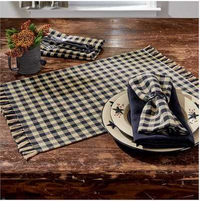 Gingham Placemat - Black