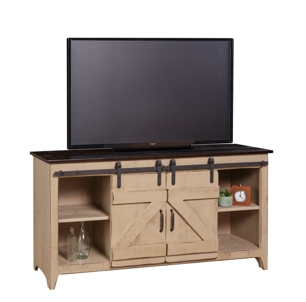TV Stand-Barn Door Console
