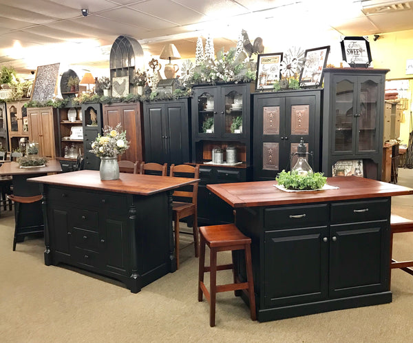 Amish Made Kitchen Islands and Vintage Farmhouse Decor