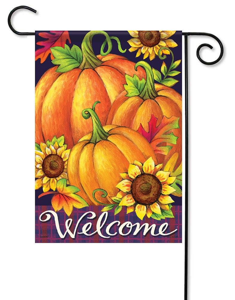 Pumpkin Trio Garden Flag