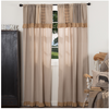 Sawyer Mill Charcoal Short Panel Curtain With Attached Patchwork Valance Set Of 2