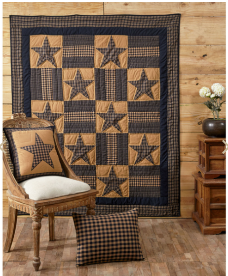 "Teton Star 60"" x 50"" Quilted Throw"