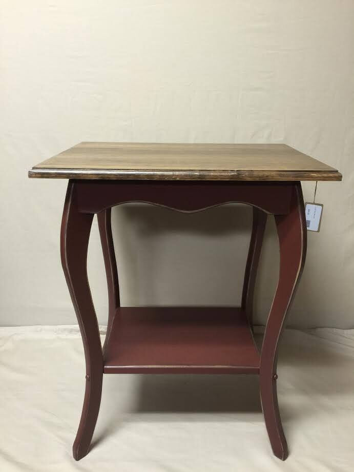 Burgundy with Special Walnut Rectangle Table