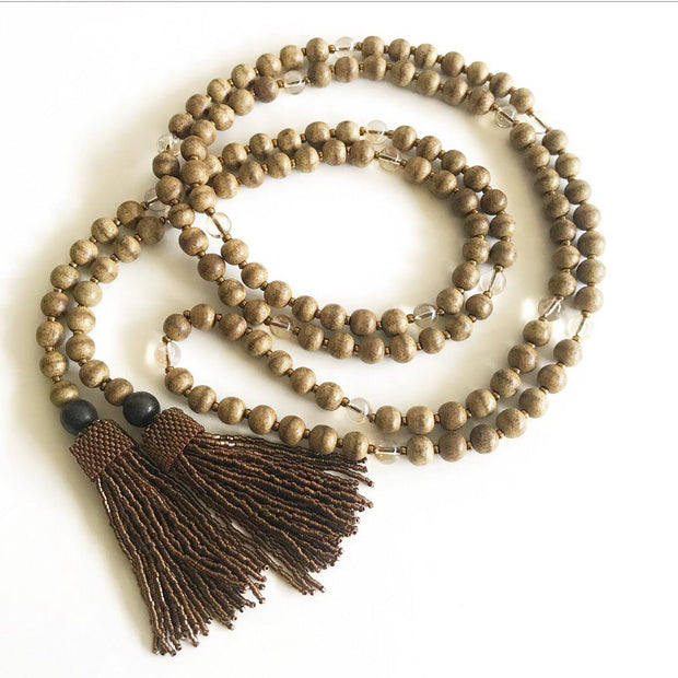 Clarity Tassel Necklace