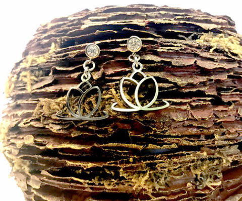Charmed Dangling Earrings - Sterling Silver