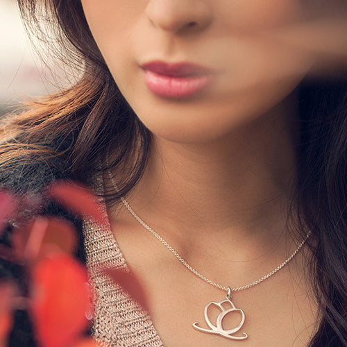Charmed Pendant Necklace - Sterling Silver