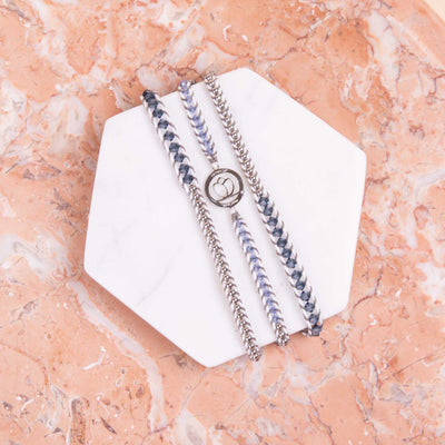 Luxe Bracelet - Denim White