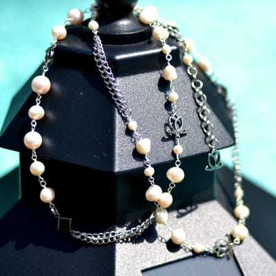 Q Pearl Necklace with Cultivated Freshwater Pearls