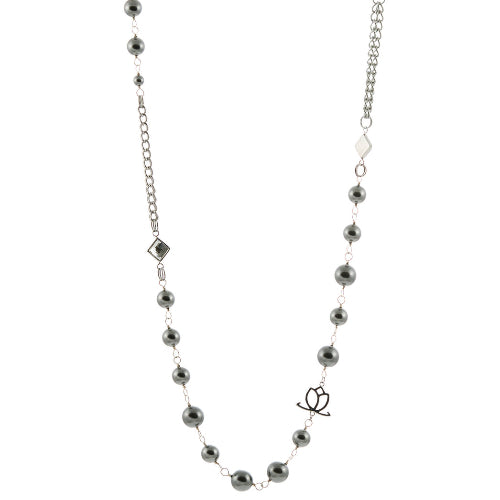 Q Pearl Necklace with Swarovski Pearls
