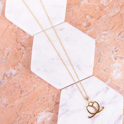 Charmed Pendant Necklace - 14k Gold-Plated