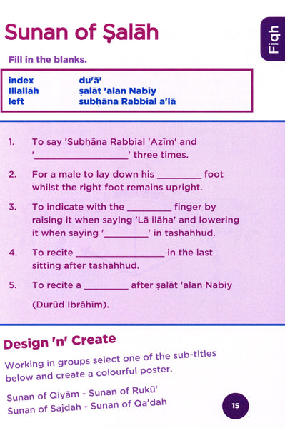 An Nasihah Islamic Curriculum Workbook 5
