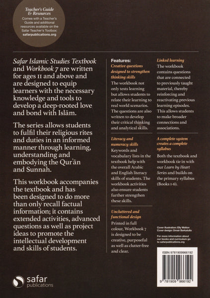 Safar Islamic Studies Workbook 7