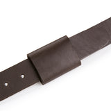 Leather X Hidden Lock Belt (Black/Dark Brown)