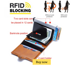 RFID Blocking Leather Wallet (ID, Card Holder)
