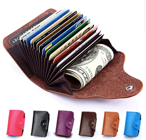 Leather Wallet ID, Card Holder