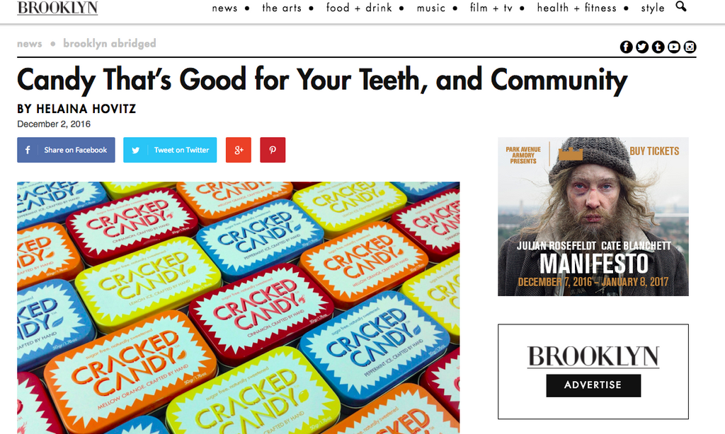 Brooklyn Magazine: Candy that's good for your teeth, and Community