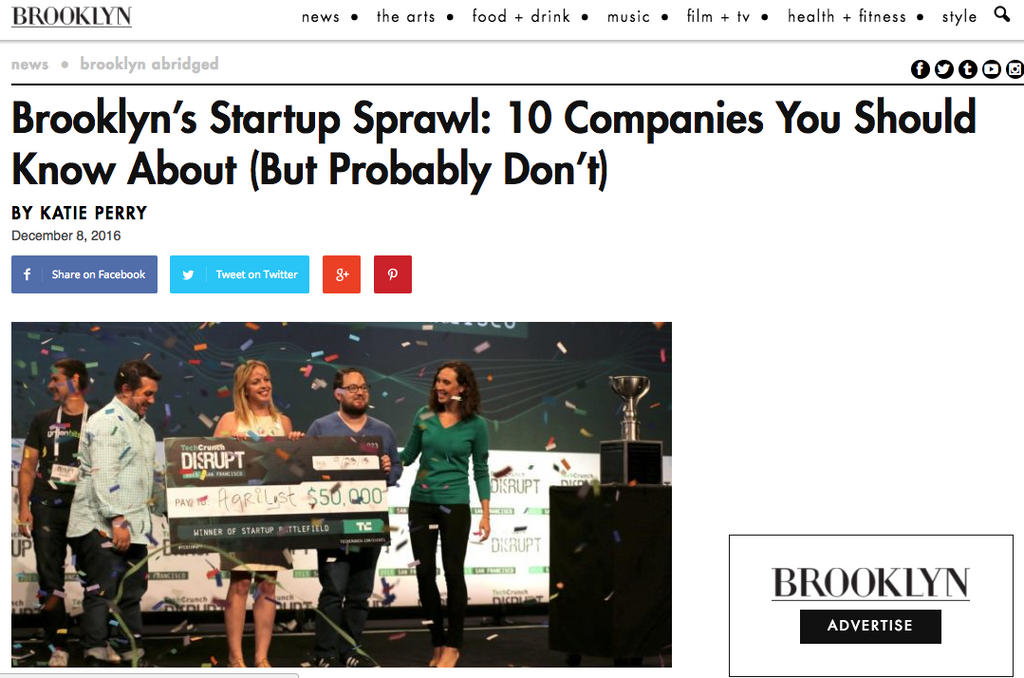 Brooklyn Magazine: 10 start up companies you should know about but probably don't