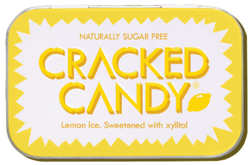 Zingy Lemon Ice: 8 pack sugar free xylitol candy