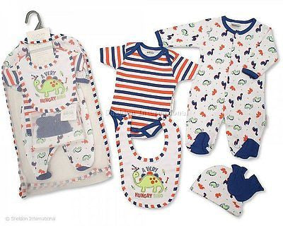 f50cd4122 5 Piece Dinosaur Layette Set – Spalding Baby Boutique
