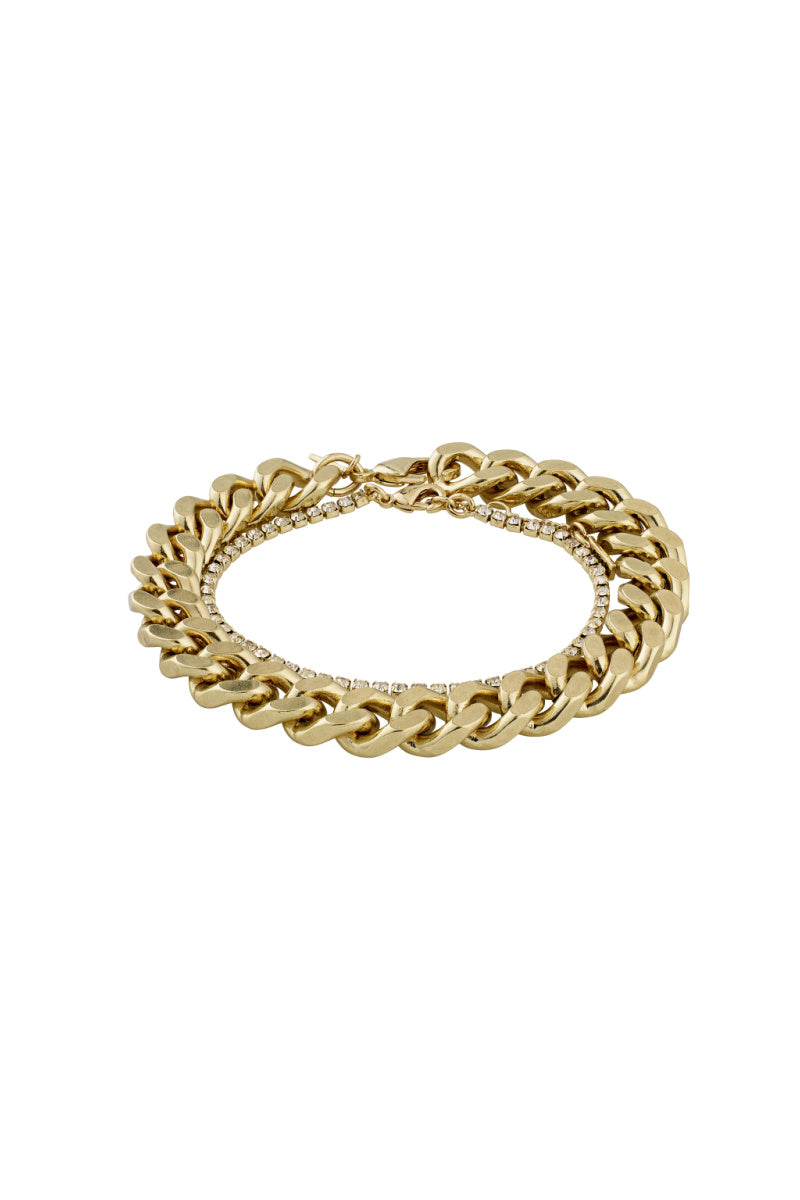 SET OF 2 GOLD PLATED CHAIN BRACELETS-G