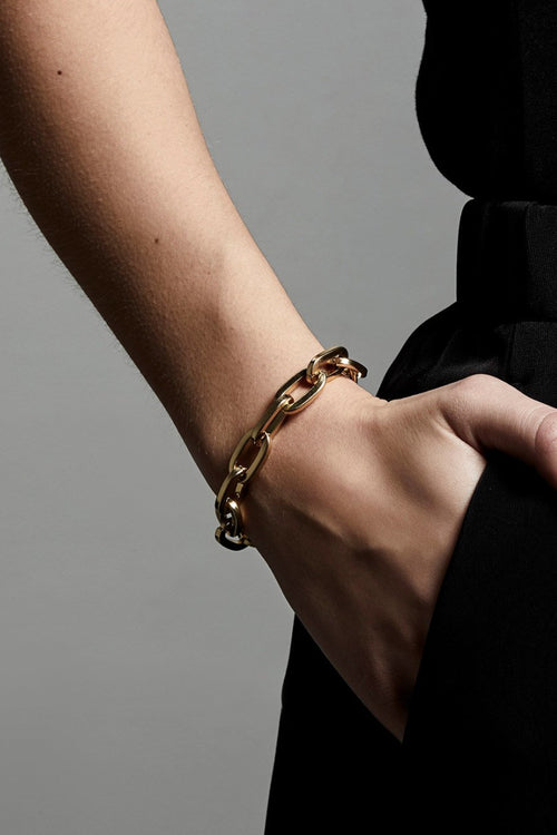 CHAIN LINK GOLD PLATED BRACELET-G