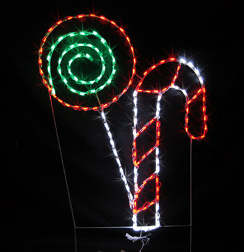 Candy Cane Light Displays