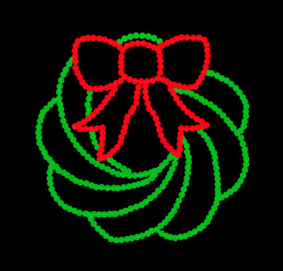 Wreath Light Displays