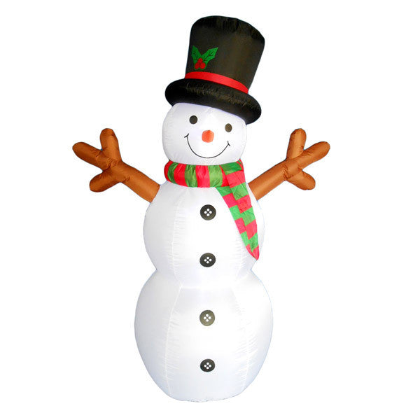 Snowman with Stick Arms Inflatable | All American Christmas Co