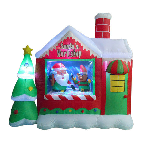 Santa's Workshop Inflatable | All American Christmas Co