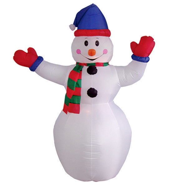 Snowman with Red Gloves Inflatable
