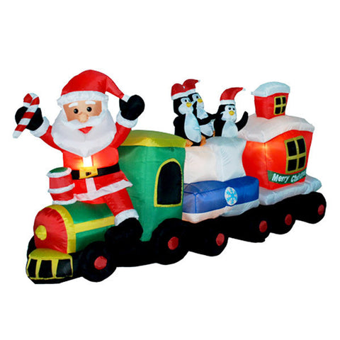 Santa's Train Inflatable | All American Christmas Co