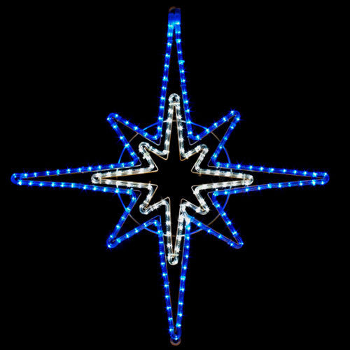 LED Blue and White Star | All American Christmas Co